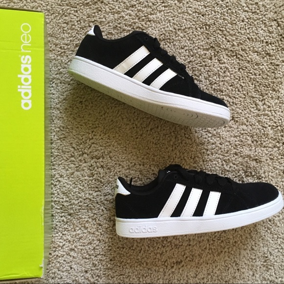fad59f9e560c Black adidas neo Baseline Kids Sneakers